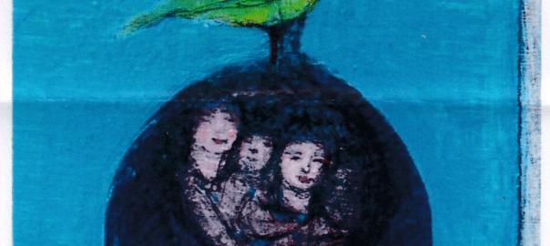 夢見鳥(30×20cm)画像 吉永邦治 作