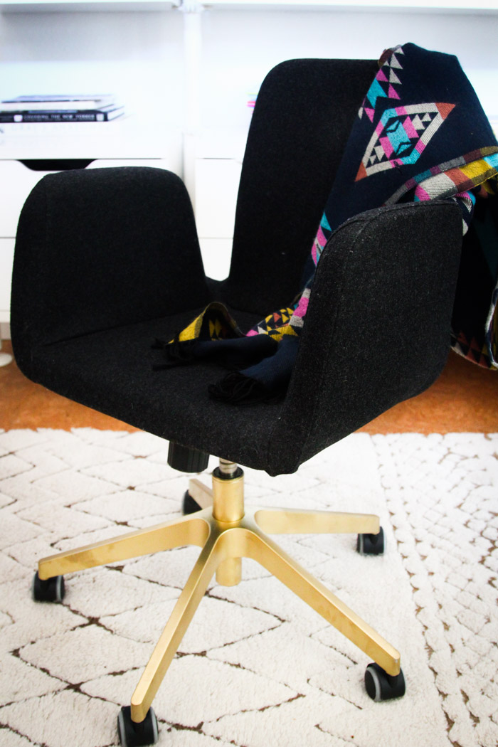 office chair gold infant baby beach quick ikea hack hither thither custom