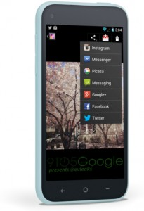 A leaked screenshot of the purported Facebook Home on Android; image via 9to5google