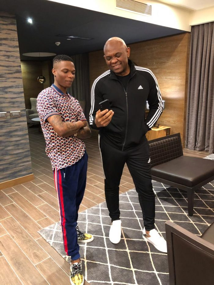 Wizkid Spotted With UBA Chairman, Tony Elumelu (Photos) Music