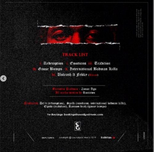 """Runtown Releases Track List For """"Tradition"""" EP"""