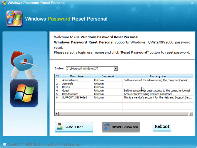 Windows Password Reset Recovery Disk Free Download ISO Image