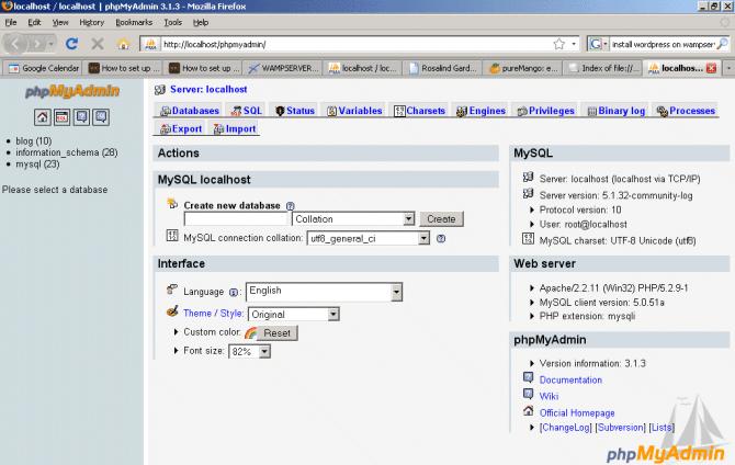 phpMyAdmin Web Database tool Free Download
