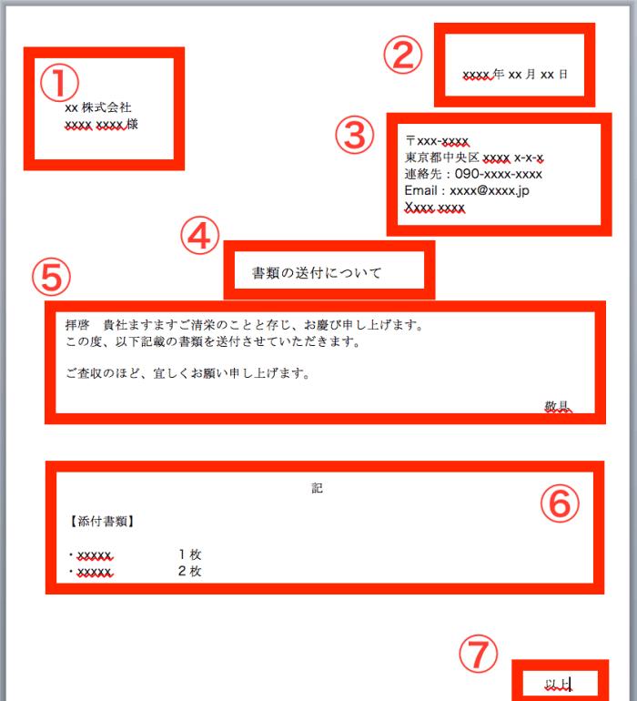 添え状(送付状)テンプレート2