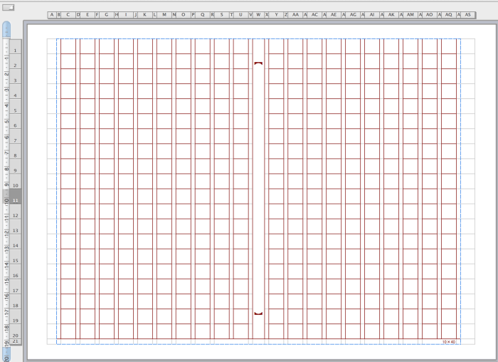 Excel(エクセル)原稿用紙 茶色