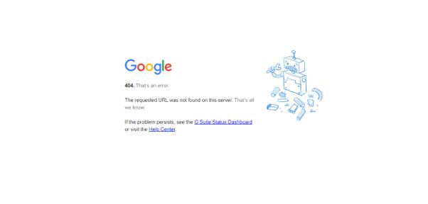 Googleの404エラーページ