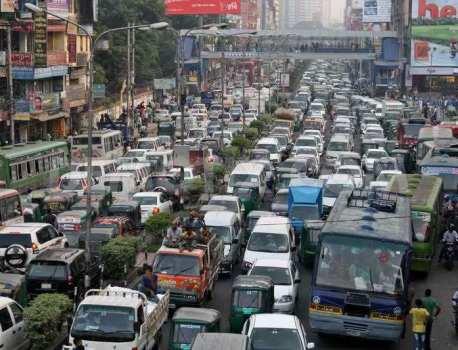【バングラデシュ】人口密度世界一の国では渋滞もすさまじい