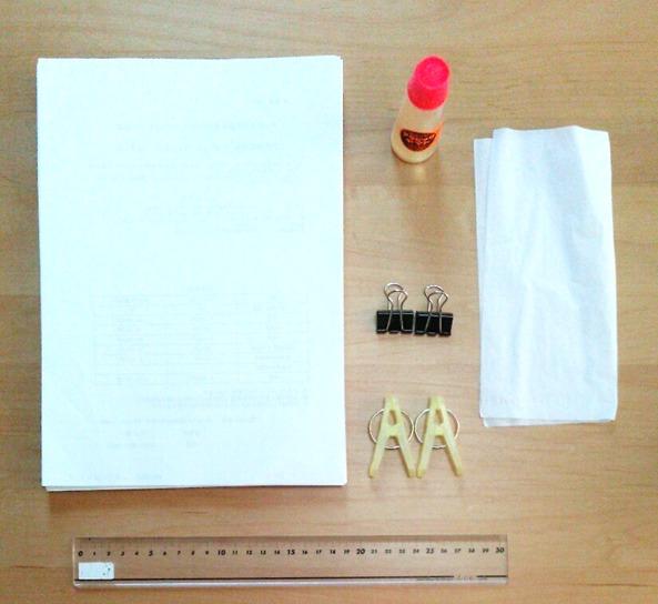 裏紙メモ帳の材料