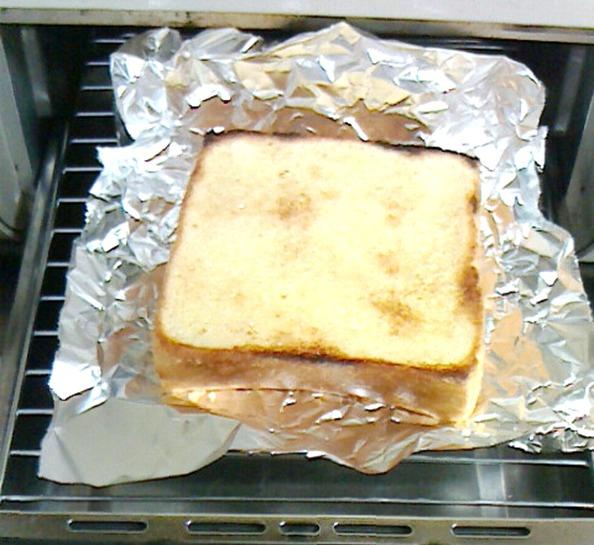厚切りトーストの作り方④