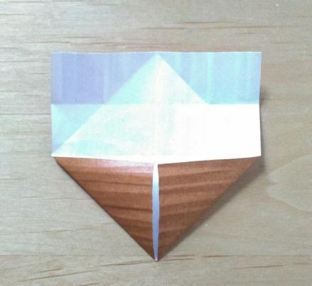 縄文土器先生の顔(土台部分)の折り方③