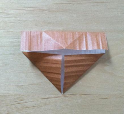 縄文土器先生の顔(土台部分)の折り方④