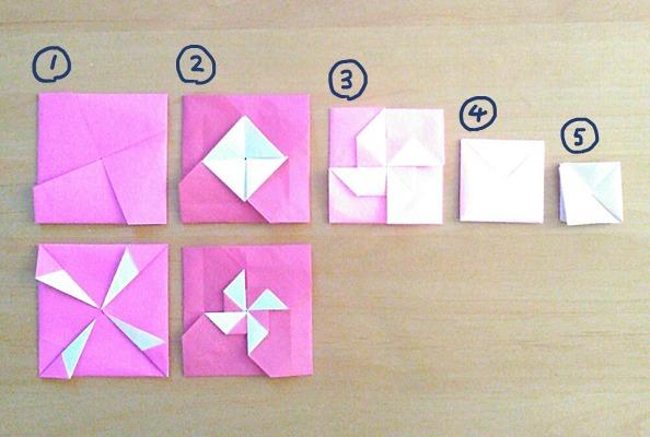 普通サイズの折り紙で作るポチ袋 正方形