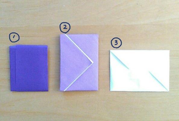 普通サイズの折り紙で作るポチ袋 長方形