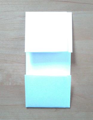 基本のたとう折りの裏側(A4)