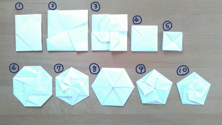 A4から切り出した正方形を使ったポチ袋