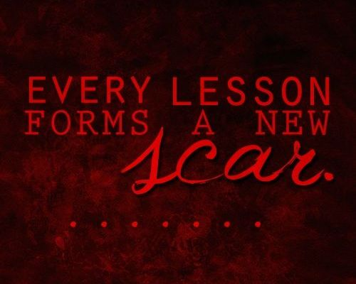 Lessons from the Scar