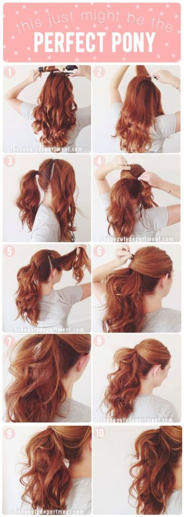 Perfect Pony Hairstyle for Woman (Image: Pinterest)