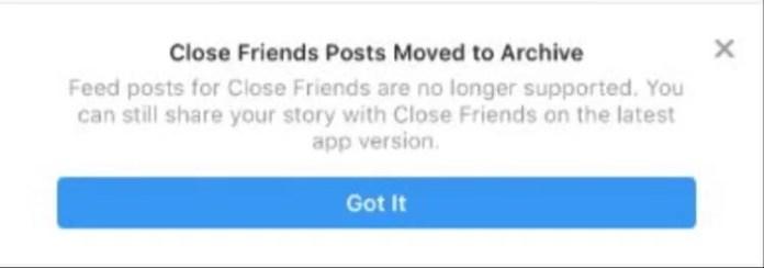 Fitur Close Friends di Instagram sudah tidak tersedia (Image: Instagram Apps)
