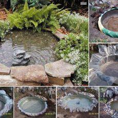 Езеро в градината от гума