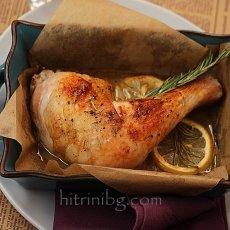 Пилешки бутчета с розмарин