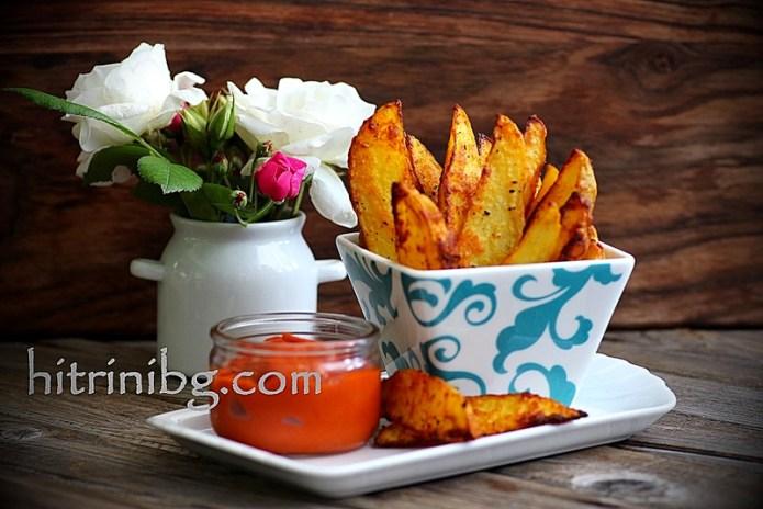 пикантни картофи на фурна