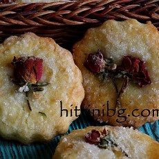 Маслени бисквити с рози