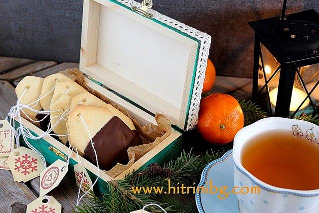 бисквити чай с шоколад