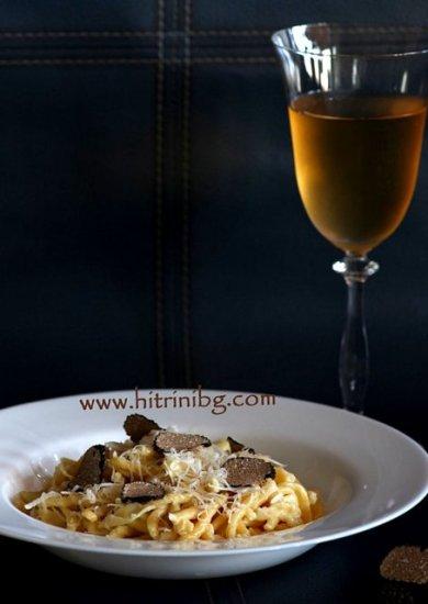 домашна паста с бяло вино