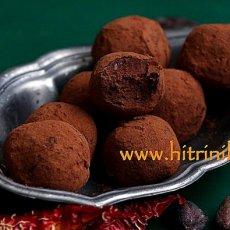 Шоколадови трюфели с чили