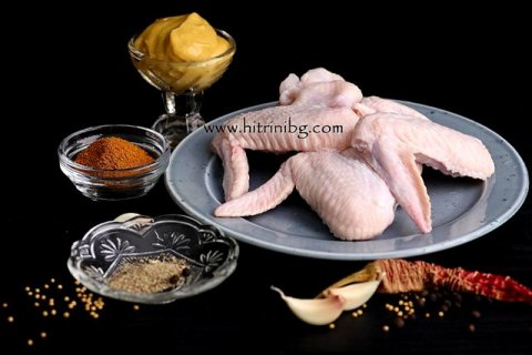 подготовка на пилешки крилца на фурна