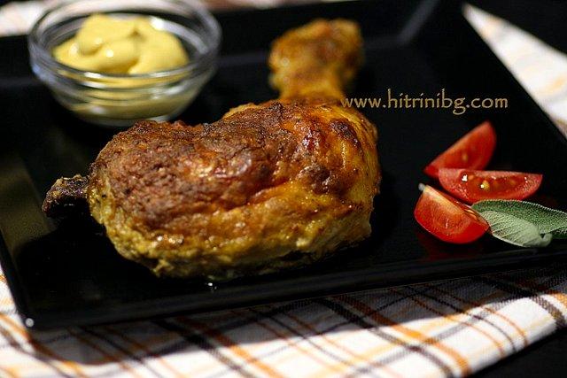 мариновани пилешки бутчета