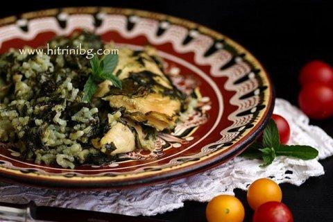 ястие от пилешко със спанак