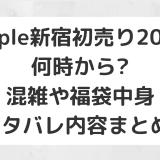 Apple新宿初売り2020|何時から?混雑や福袋中身ネタバレ/内容まとめ!