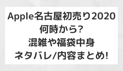 Apple名古屋栄初売り2020|何時から?混雑や福袋中身ネタバレ/内容まとめ!