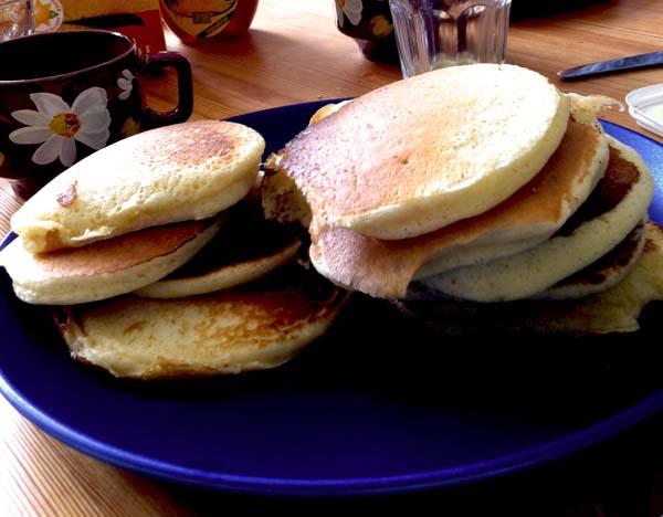 amerikanska pannkakor äggvita