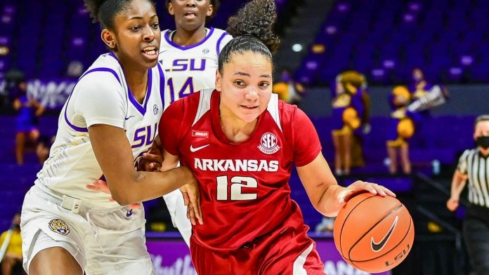 Hogs win sixth of last seven games, picking up road win at LSU