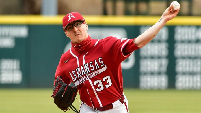 Wicklander's pitching, Battles pace Hogs' comeback to down SEMO