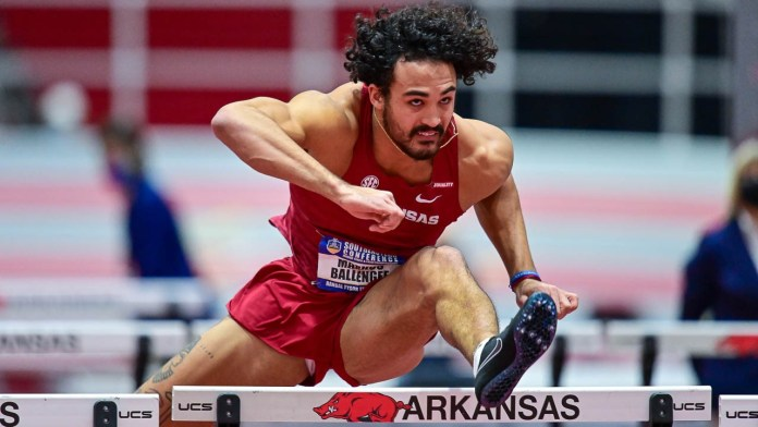 Arkansas moves into lead on second day of SEC Indoor
