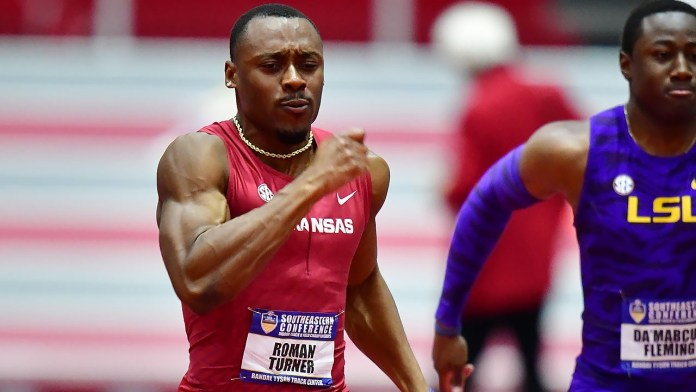 Hogs lead field at home for NCAA Indoor Championship next week