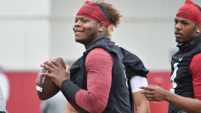 Jefferson, quarterback play key for Hogs to have success, says West
