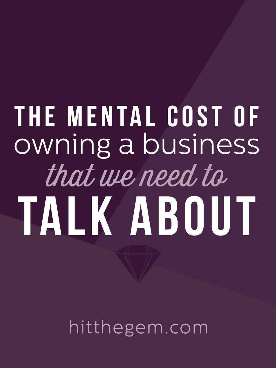 Anxiety, depression, and other mental health struggles are more common among entrepreneurs than you might think. There's a huge mental cost to owning a business that we need to talk about.