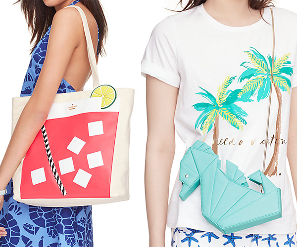 From chic sea creatures and exotic refreshments, to breezy palm tree prints, these pieces are sure to whisk you away in style with a breath of fresh air!