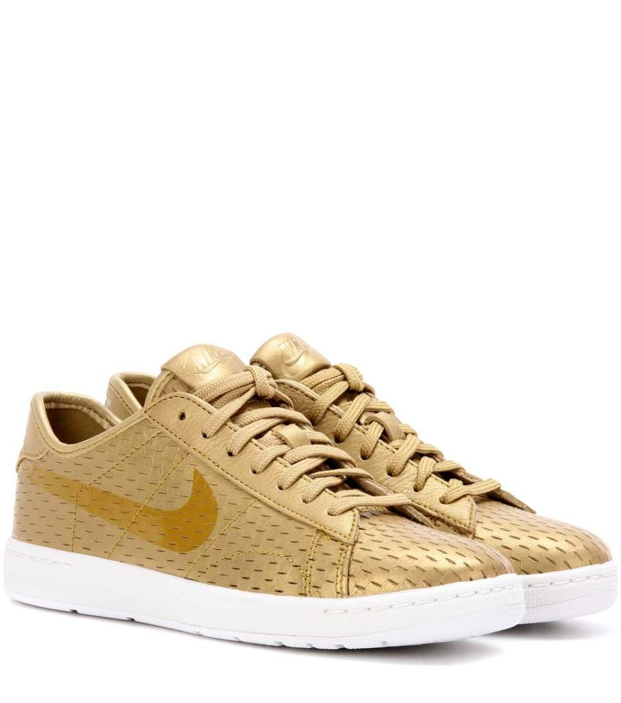 golden Nike shoes