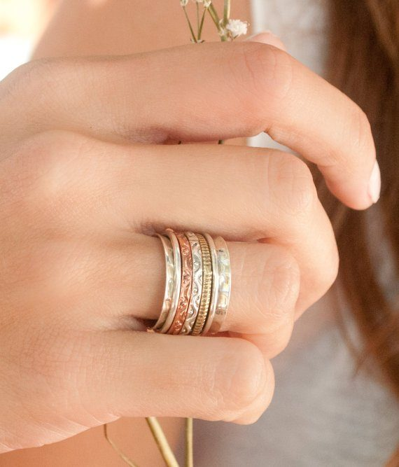 15 Little Things Every Person With Anxiety Needs - Spinner Meditation Ring from ByCila Jewelry