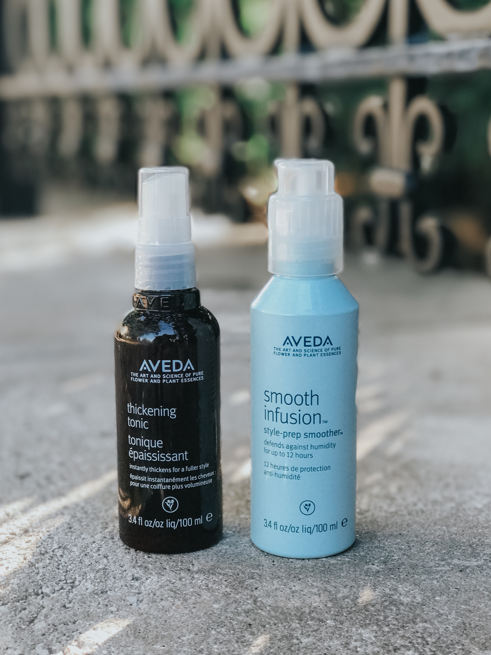 Apply Aveda's Smooth Infusion Style-prep Smoother on damp hair to defends against humidity for up to 12 hours