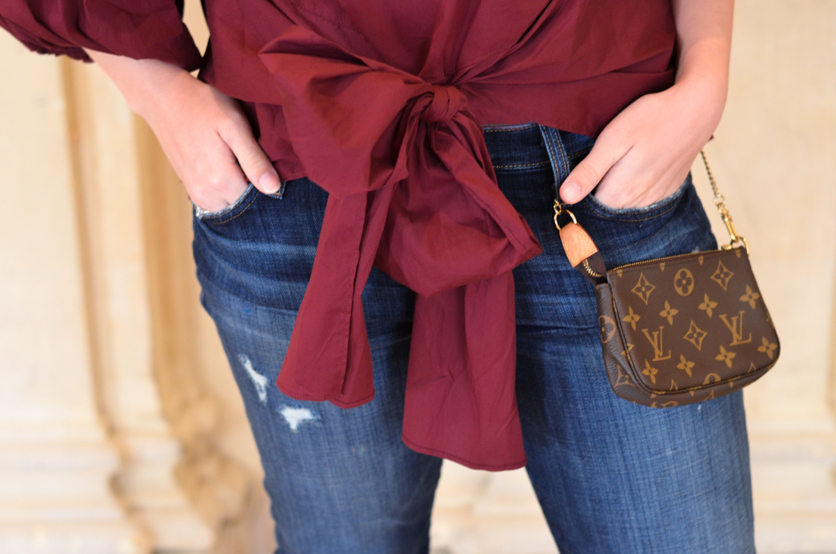 How to dress up boyfriend jeans (hint: add heels!)