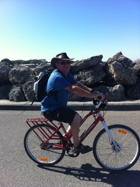 Riding a bike is the only way to get around on Rottnest Is.