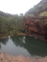 Looking down from the top of Fortescue Falls