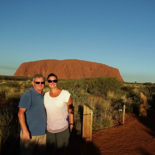 Craig and Emma at Uluru