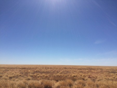 5 hours of driving through flat plains